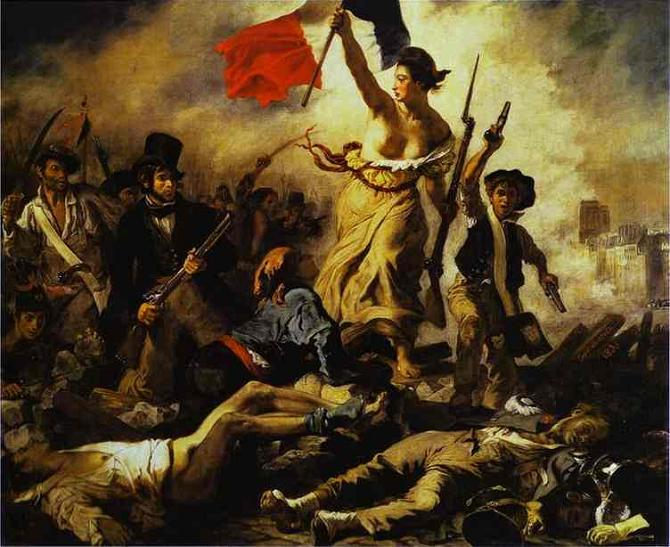 """Liberty leading the People,"" painting by Eugene Delacroix, 1830-31"