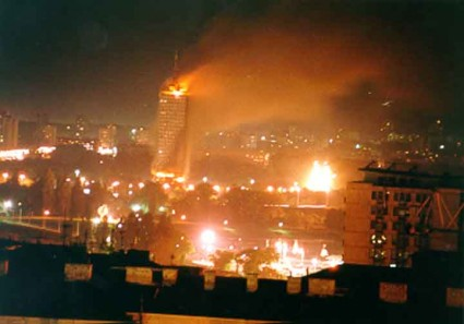 Belgrade Under Nato Bombardment 1999