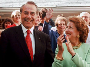 Bob & Elizabeth Dole vote on Election Day 1996